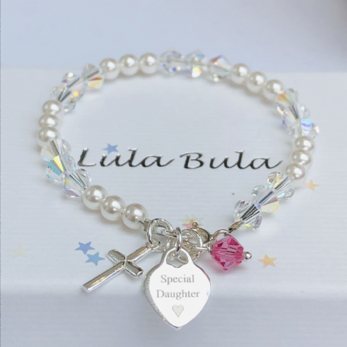 First Holy Communion gift bracelet - FREE ENGRAVING